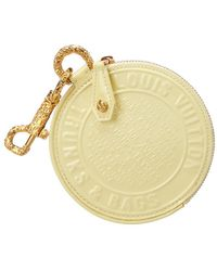 Louis Vuitton - Limited Edition Yellow Monogram Trunks & Bags Canvas Porte Monnaie Round Coin Case - Lyst