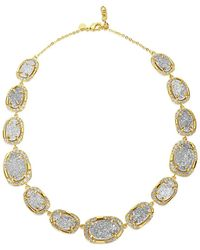 Melinda Maria - 18k Plated Grey Druzy & Cz Necklace - Lyst