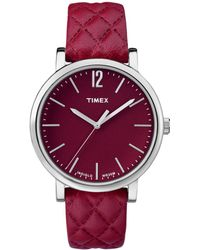 Timex - Women's Leather Watch - Lyst