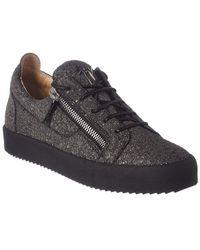 Giuseppe Zanotti - Matte Glitter Leather Sneaker - Lyst