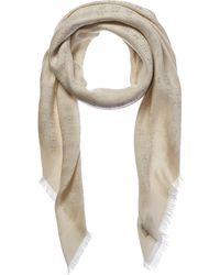 Louis Vuitton - White Silk & Wool-blend Shawl - Lyst