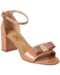 Ferragamo - Gavina Patent Ankle Strap Sandal - Lyst