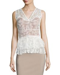 Tracy Reese - Overlay Shell Top - Lyst