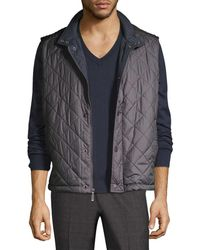 Brooks Brothers - Quilted Solid Vest - Lyst