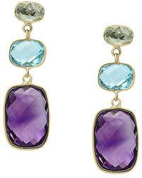Effy - Fine Jewelry 14k 17.45 Ct. Tw. Gemstone Drop Earrings - Lyst