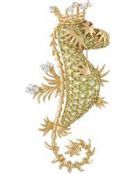 Heritage Tiffany & Co. - Tiffany & Co. 18k 0.30 Ct. Tw. Diamond & Gemstone Brooch - Lyst
