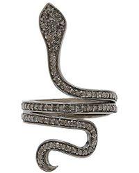 Adornia - Coil Champagne Diamond Ring - Size 8 - 0.90 Ctw - Lyst