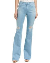 AG Jeans - The Janis Light Wash High-rise Flare Leg - Lyst