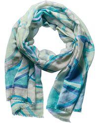 Forte - Forte Aqua Silk, Linen, & Cashmere-blend Scarf - Lyst