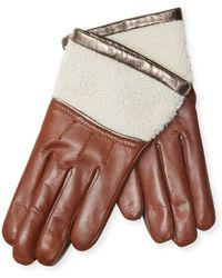 Maison Fabre - Half Shearling Gloves - Lyst