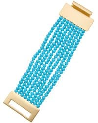 Kenneth Jay Lane - 22k Plated Resin Bracelet - Lyst