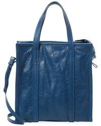 Balenciaga - Bazar Small Leather Shopper Tote - Lyst