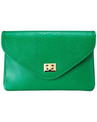 Gigi New York - Python-embossed Georgia Clutch - Lyst