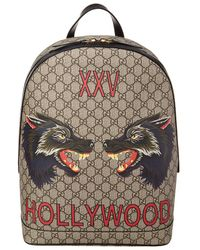 Gucci - GG Supreme Hollywood Print Backpack - Lyst