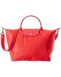 Longchamp - Le Pliage Neo Medium Nylon Top Handle Satchel - Lyst