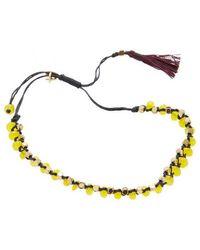 Isabel Marant - Beaded Tassel Rope Bracelet - Lyst