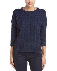 Three Dots - Miranda 3/4-sleeve Cropped Sweater - Lyst