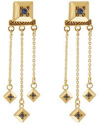 House of Harlow 1960 - 1960 14k Plated Crystal Drop Earrings - Lyst