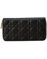 Dior - Leather Zip Around Wallet - Lyst