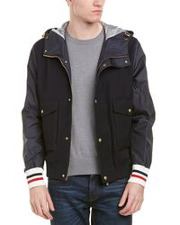Moncler - Wool Down Hooded Bomber Jacket - Lyst