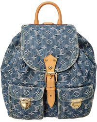 Louis Vuitton - Blue Monogram Denim Sac A Dos Mm - Lyst