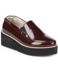 Sol Sana - Tabbie Leather Platform Loafers - Lyst