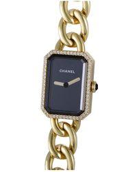 Chanel - 18k Gold Diamond Premiere Watch - Lyst