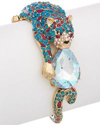 Betsey Johnson - Bejeweled Critters Leopard Statement Cuff - Lyst