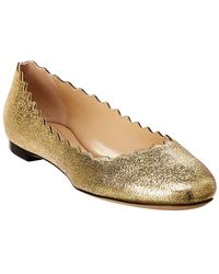 Chloé - Women's Lauren Scalloped Leather Ballet Flats - Lyst