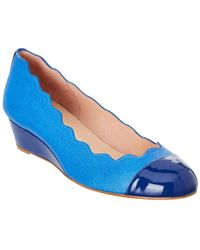 French Sole - Miles Patent Trim Wedge - Lyst