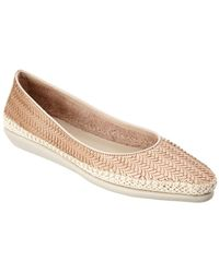The Flexx - The Torri Leather Slip-on Flat - Lyst