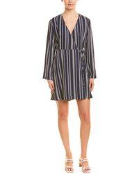 Lush - Solid Wrap Dress - Lyst