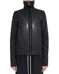 Rick Owens - Embroidered Zip Front Jacket - Lyst