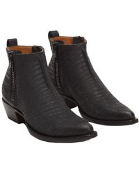 Frye - Sacha Moto Leather Bootie - Lyst