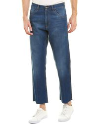 Gucci - Stonewashed Denim Cropped Jean - Lyst