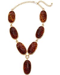 Kenneth Jay Lane - Gold Plated 30in Necklace - Lyst