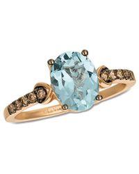 Le Vian - ® 14k Rose Gold 1.55 Ct. Tw. Diamond & Aquamarine Ring - Lyst