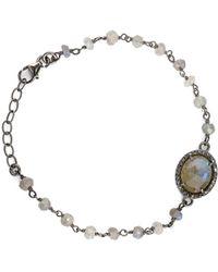 Adornia - Fine Jewelry Silver 3.20 Ct. Tw. Labradorite & Diamond Adjustable Bracelet - Lyst
