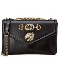 7c9c144a1 Gucci GG Marmont Leather Mini Leather Top-Handle Bag in Black - Lyst