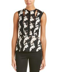 Yigal Azrouël - Lace Button Down Top - Lyst