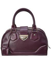 Louis Vuitton - Purple Epi Leather Bowling Montaigne Gm - Lyst