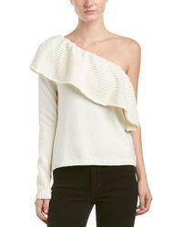 Ella Moss - One-shoulder Silk-blend Sweater - Lyst
