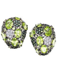 Roberto Coin - 18k 2.24 Ct. Tw. Diamond & Peridot Drop Earrings - Lyst