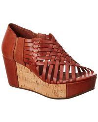 Chocolat Blu - Web Wedge Leather Sandal - Lyst