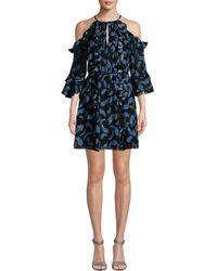 Rachel Zoe - Feather Print Vikki Dress - Lyst