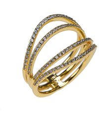 CZ by Kenneth Jay Lane - 18k Plated Ring - Lyst