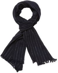 John Varvatos - Collection Striped Wool Scarf - Lyst