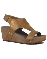 Antelope - 527 Leather Wedge Sandal - Lyst