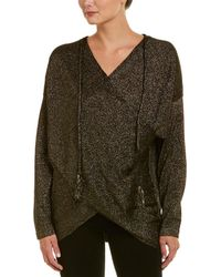 Fate - Metallic Crossover Sweater - Lyst