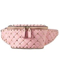 Valentino - Rockstud Spike Leather Belt Bag - Lyst